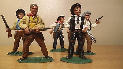 TIMPO SOLID Five Cowboys painted