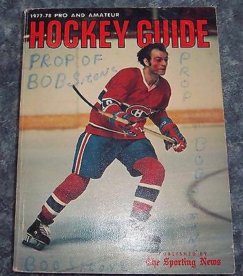 The Sporting News NHL Guide Pro & Amateur Hockey Guide 1977-78 Guy Lafleur