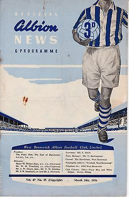WEST BROMWICH ALBION  v  CHELSEA  1955/6.