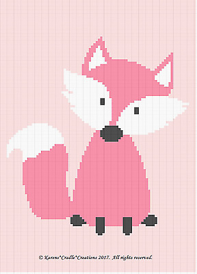 Crochet Patterns - FOX Woodland Baby GIRL Afghan Pattern *EASY