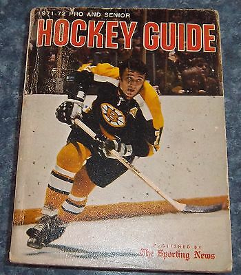 The Sporting News NHL Guide Pro & Senior Hockey Guide 1971-72 Phil Esposito