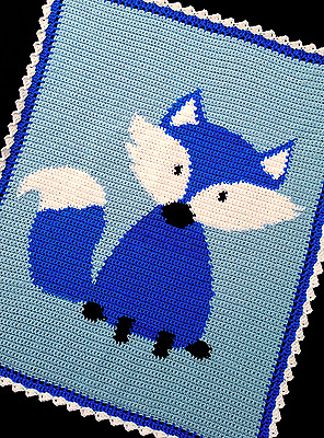 Crochet Patterns - FOX Woodland Baby BOY Afghan Pattern *EASY