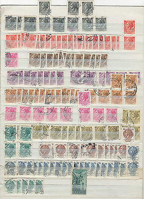 a large collection of used Italy stamps many duplicates.