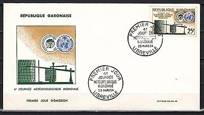 / Gabon, Scott cat. 170. W.M.O. Organization, Weather issue on a First day cover