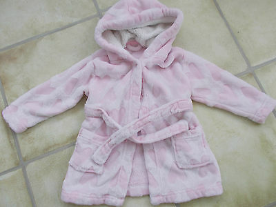 Girls Pink Dressing Gown Age 9-12 Months