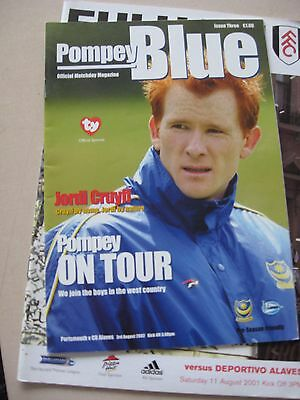3.8.2002 Portsmouth v Alaves Friendly