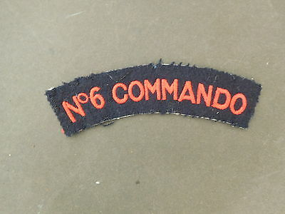 No 6 Commando Shoulder Title Patch