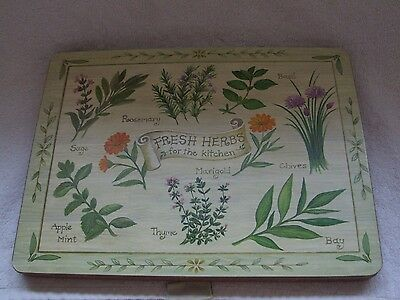 X5 New Herb Table Place Mats