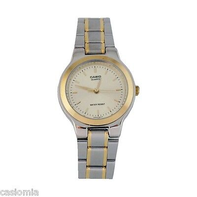 Casio LTP1131G-9A Ladies Two-Tone Stainless Steel Dress Watch Gold Dial NEW
