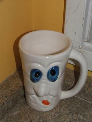 "Halloween White Ghost Face Decorative Coffee Mug Cup, 5"" High"