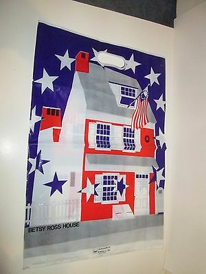 """Vintage 1980's Betsy Ross House Colonial Philadelphia Gift Shop Bag 14""""x20"""""""