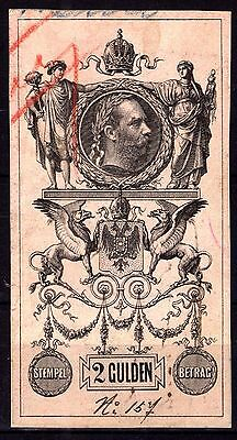 2 GULDEN Very large Stamps ÖSTERREICH Austria STEMPEL REVENUE FISCAL COLLECTION