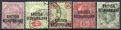 BECHUANALAND 1891  SET COMPLETE USED  cat. £24