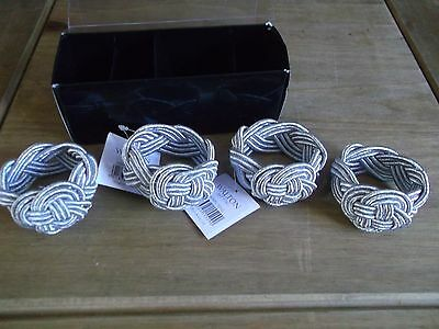 New Set Of 4 Silver Colour Celtic Knot Napkin Holders