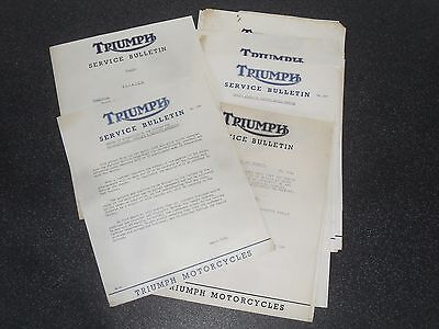 Genuine Old Triumph Motorcycle Factory Dealer Documents 1950s 1960s 70s