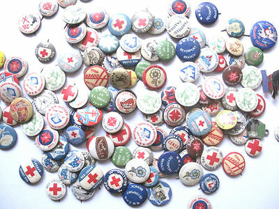 Assorted Collection Of Vintage Tin Badges (Over 100 Badges) - Free Postage