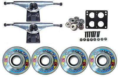 KRYPTONICS ROUTE Truck Wheel Pack 65mm CLEAR Core 6.0 Silver