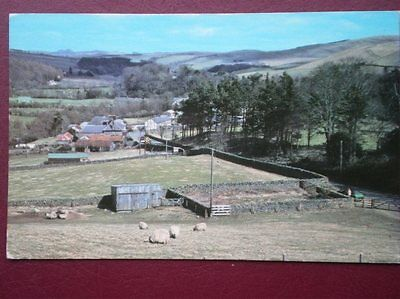 Postcard Selkirkshire Ettrick Bridge Village From The North