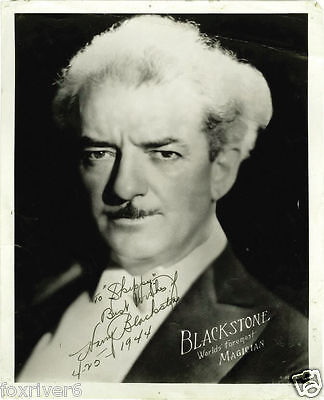 HARRY BLACKSTONE Signed Photograph - Magician / Theatre / Stage - Preprint