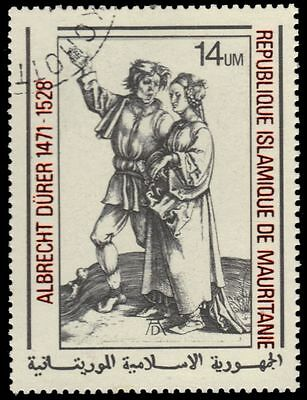 """MAURITANIA 408 (Mi629) - """"Peasant and Wife"""" by Albrecht Durer (pa4303)"""