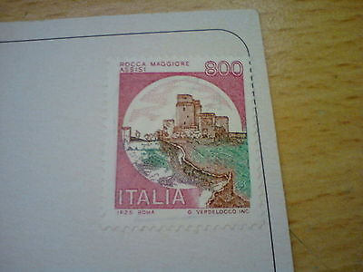 Italy Postcard With Unused 1980 Italy 800 Lire Stamp