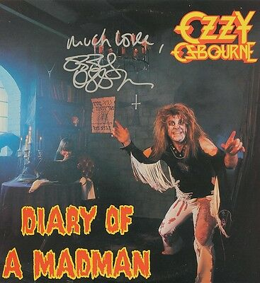 OZZY OSBOURNE Signed 'Diary Of A Madman' Photograph - Rock Singer - preprint