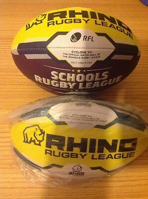 Cyclone Xiii Rhino Rugby League Match Ball (brand new) Size 5 Reduced