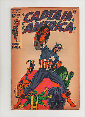 Captain America #111 - Jim Steranko Cover - (Grade 6.0) 1968