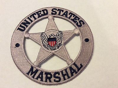 """United States Marshal Silver Star 4"""" Patch  New !!"""