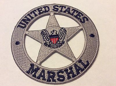 """United States Marshal Silver Star  3"""" Patch  New !!"""