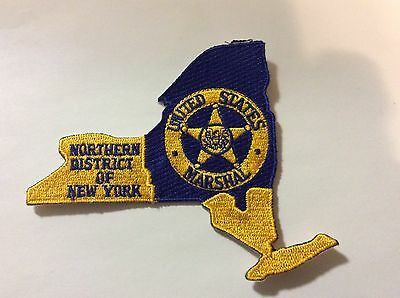 """Us Marshal Northern District Of Ny 4 """" Patch  New !!"""