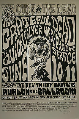 GRATEFUL DEAD FAMILY DOG Quick and the Dead Lithograph AUTOGRAPHED Wes Wilson