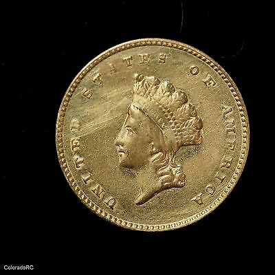 1855 $1 Gold Indian Princess Head One Dollar Coin Type 2 - XF Nice Coin