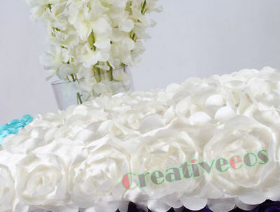 4.6*3 FEET 3D Rose Flower Wedding Aisle Runner Marriage Decor Carpet Curtain