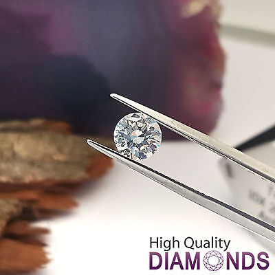 Certified Loose Diamond 0.45 CT D VS2 Natural Round Cut Enhanced