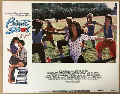 beautiful Phoebe Cates at p.e. class Private School 1983 #! lobby card 1081