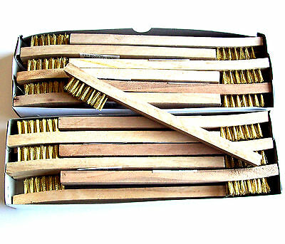 24 Brass Wire Brush Tooth Brushes