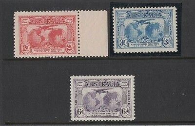 1931 Australia KGV Kingsford Smith SG 121/3 mlh set