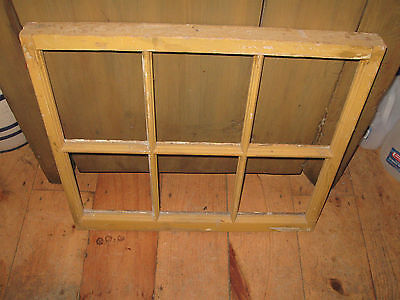 Vintage Sash Antique Wood Window Picture Frame Pinterest 6 Pane Chippy Rustic