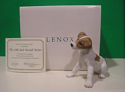 LENOX LITTLE JACK RUSSELL TERRIER PUPPY Dog sculpture NEW in BOX with COA