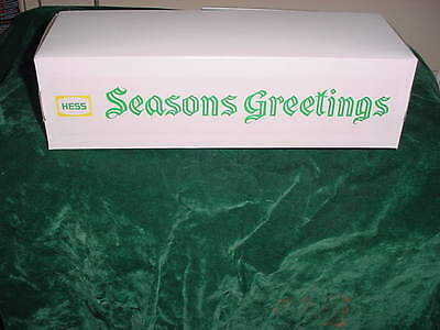 Seasons Greeting Holiday Hess Christmas Fire Truck Box  For 1970 71 Red Truck