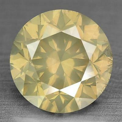 2.02 cts ! 100% Natural Fancy Yellowish Green Color Unheated Round Diamond