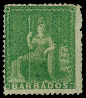 "BARBADOS 15 (SG21) - Allegory of Britannia ""1859 Green"" (pf86572)"