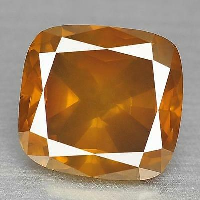 1.47 cts ! Sparkling ! 100% Natural Nice Orangy Yellow Color Diamond For Ring