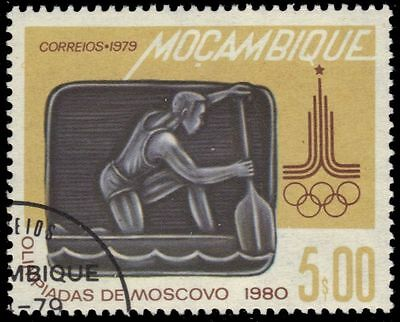 """MOZAMBIQUE 627 (Mi690) - Moscow Olympics """"Canoeing"""" (pa60845)"""