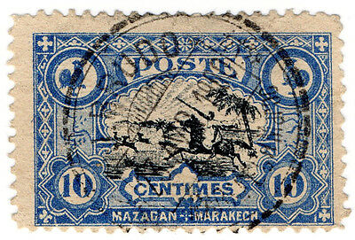 (I.B) French Morocco Local Post : Mazagan - Marakech 10c