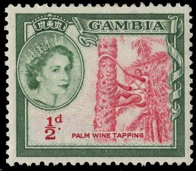 """GAMBIA 153 (SG171) - QEII """"Palm Wine Tapping"""" 1953 Printing (pa85036)"""