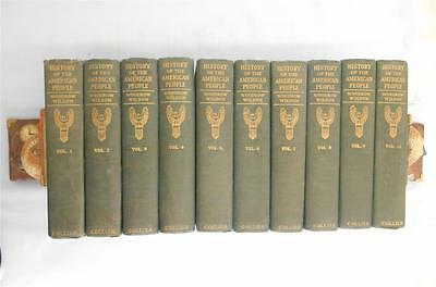 """1917 """"A History Of The American People""""by Woodrow Wilson,Complete 10 Volume Set"""