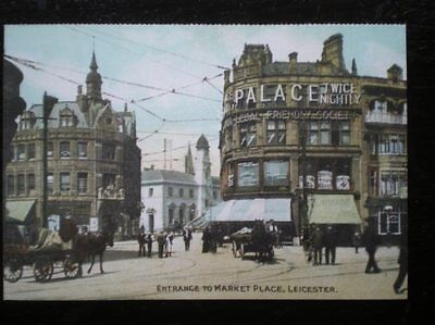 Postcard B41- Leicestershire Leicester - Entrance To Market Place C1900's