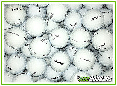 "24 Titleist PRO V1 (2016 Model) Marked ""PRACTICE"" Golf Balls - PEARL / GRADE A"